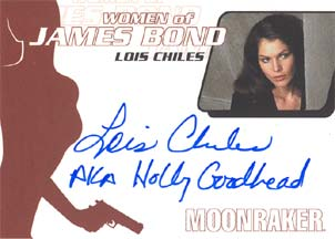 Lois Chiles as Holly Goodhead in <U><I>Moonraker</I></U>