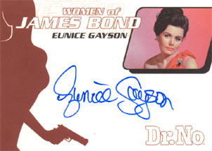 Eunice Gayson as Sylvia Trench in <U><I>Dr. No</I></U>
