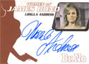Ursula Andress Autograph Card