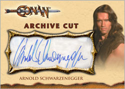 Schwarzenegger cut signature card