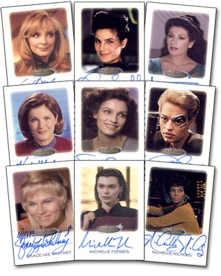 Women of Star Trek autograph cards
