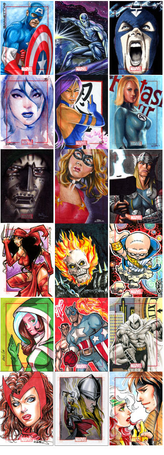 Sample sketch card images