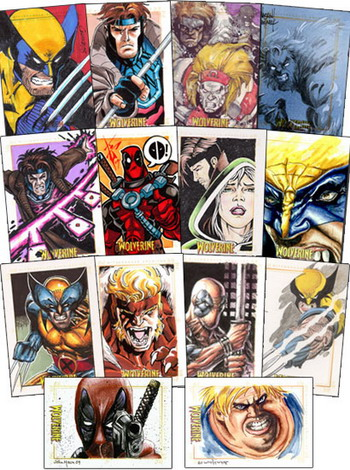 X-Men Origins: Wolverine Sketch Cards