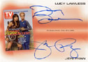 Lucy Lawless-Jeri Ryan Dual Autograph TV Guide Card