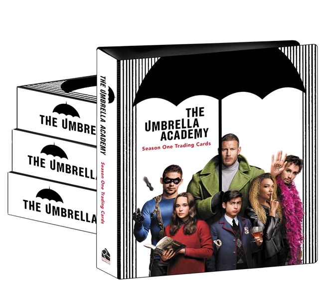 The Umbrella Academy Season 1 Trading Cards - Case of Albums