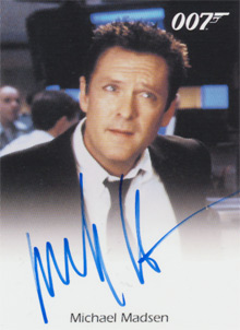 Michael Madsen Blue Ink Full-Bleed Autograph Card