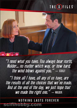 X-Files Seasons 10 & 11 Quotable Card Q28