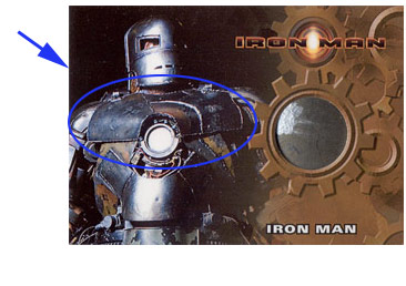 Iron Man Mark I armor prop card