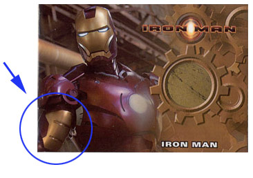 Iron Man Mark III armor prop card
