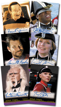 Samples Quotable Star Trek Movies autograph cards