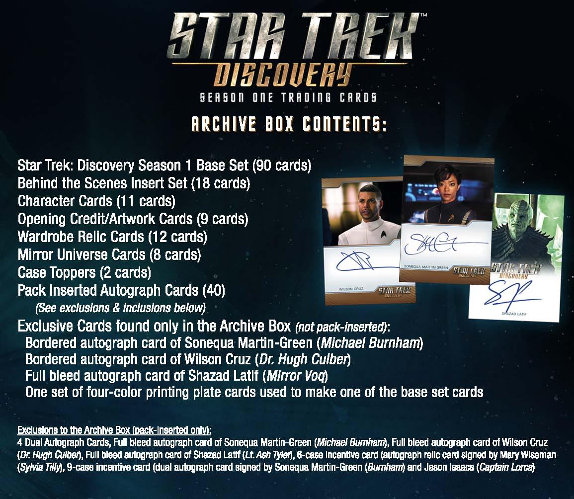 Star Trek Discovery Season 1 Archive Box (Rittenhouse) - HIT