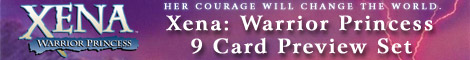 Xena: Warrior Princess 9 Card Preview Set